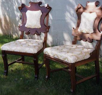 Custom Made Mahogany Carved Chairs