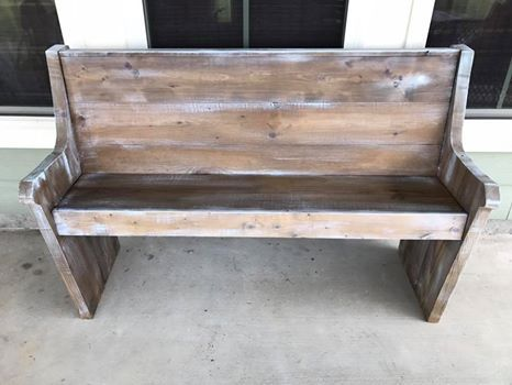 Custom Made Small Pew