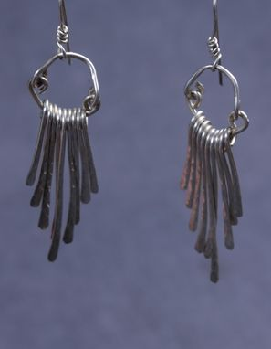 Custom Made Sterling Silver Tail Feather Earrings