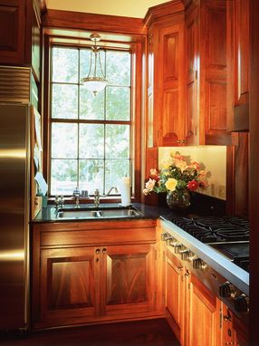Custom Made Plantation Kitchen With Cypress, Heart Pine, And Painted Cabinets