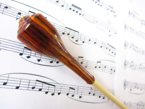 Custom Made Music Conductors Baton - Handmade-Cocobolo Wood Handle And Poplar Wood Tip