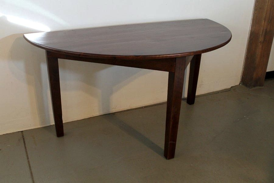 custom made small half circle dining tableecustomfinishes Circular Dining Table