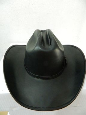 Custom Made Hats , Cowboy Genuine Leather Hat All Sizes Availables