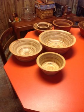 Custom Made Turned Wooden Bowls
