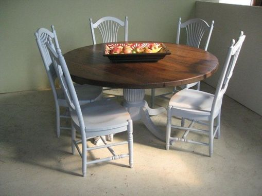 Custom Made Round Farm Dining Table With Pedestal Base