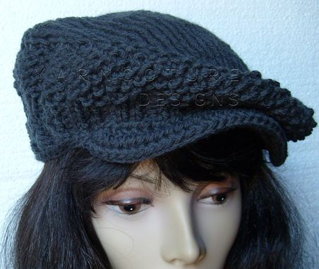Custom Made The Knit Newsie / Jeff Cap - Unisex In Gothic Gray