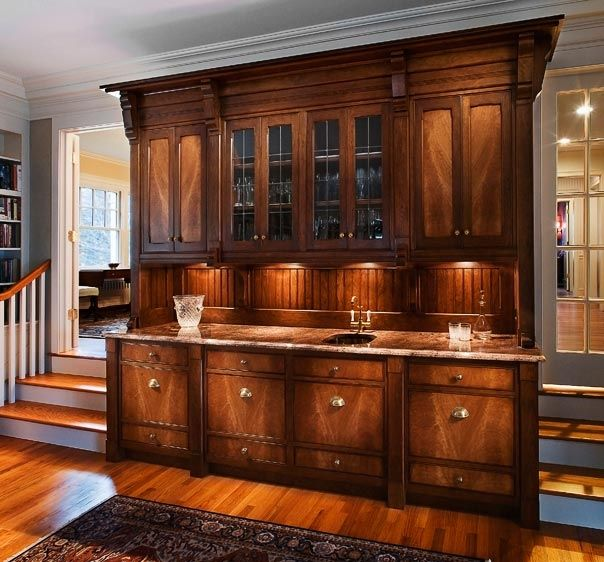Cabinets For Home Bar: Hand Made Traditional Bar Cabinet By Cabinetmaker Birdie