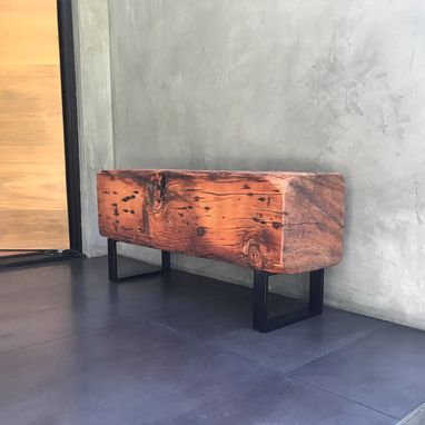 Custom Made Beam Bench | Historical Reclaimed Lumber + Modern Design
