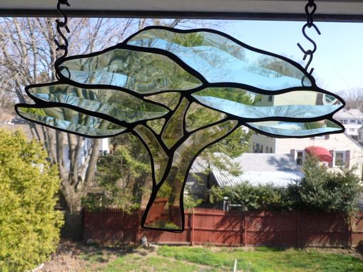 Custom Made Beveled Tree Of Life Stained Glass