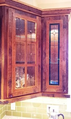 "Custom Made Stained Glass Cabinet Inserts -  ""Clear Elegance"" (Ci-8)"