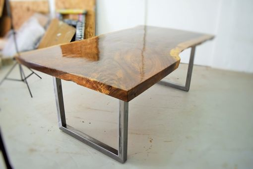 Custom Made Live Edge Claro Walnut Dining Table