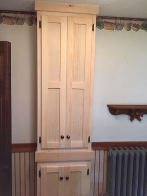 Custom Made Pantry Cupboard - Unfinished Pine