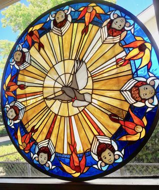 Custom Made The Gift - Stained Glass Panel