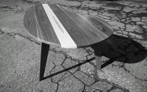 Custom Made Mid-Century Modern Coffee Table Walnut With Maple