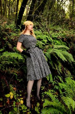 Custom Made Vintage Dress Reproduction 1950s Pockets Dress With Circle Skirt Made To Fit Any Size