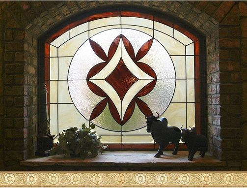 Custom Made Stained Glass Wine Cellar Window