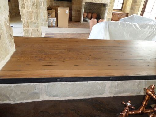 Custom Made Reclaimed Wood Counter Top