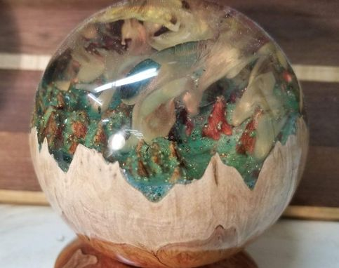 Custom Made Stormy Wonderland Wood Hybrid Sphere
