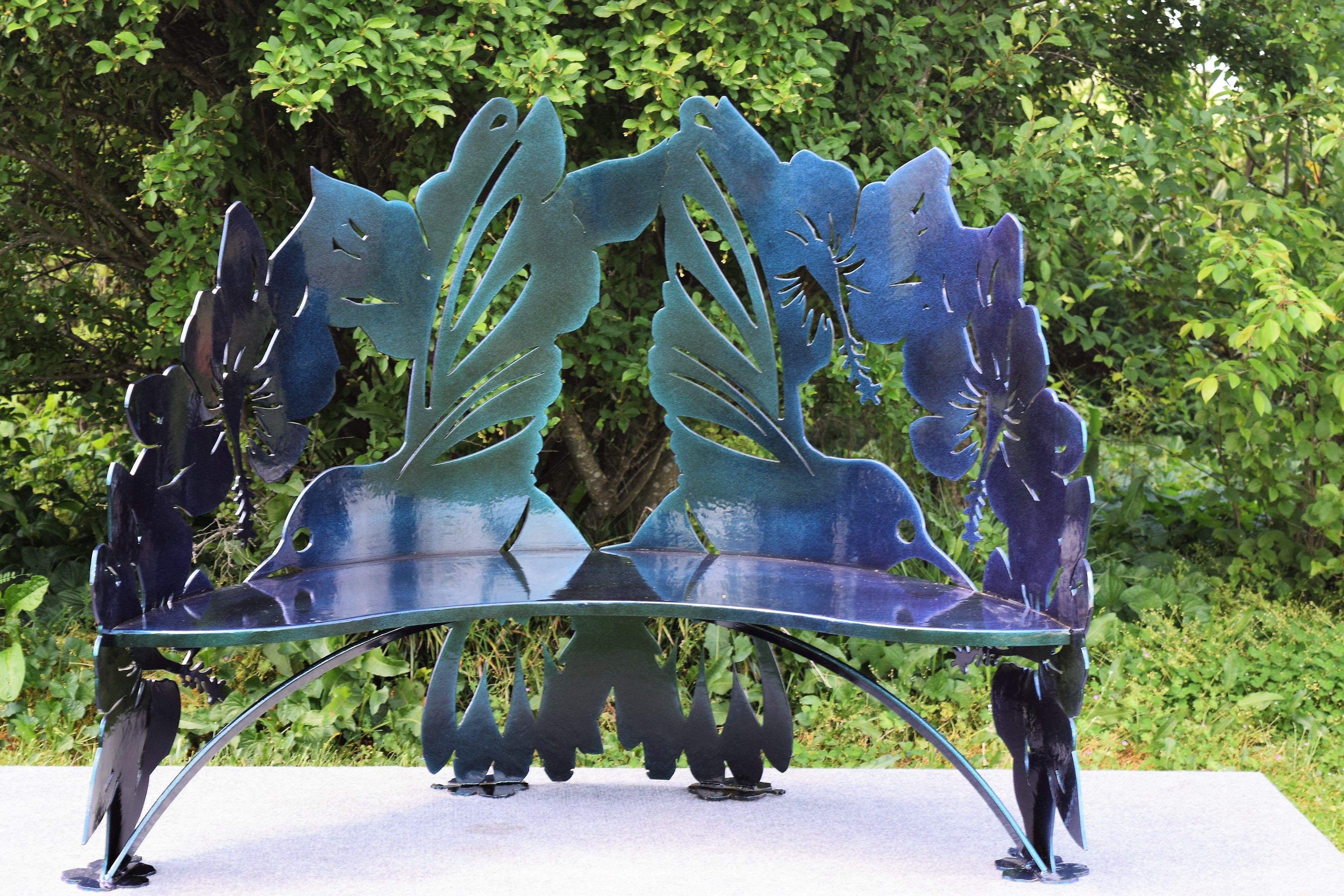 Fantastic Buy A Hand Crafted Hummingbird Hibiscus Steel Metal Garden Andrewgaddart Wooden Chair Designs For Living Room Andrewgaddartcom