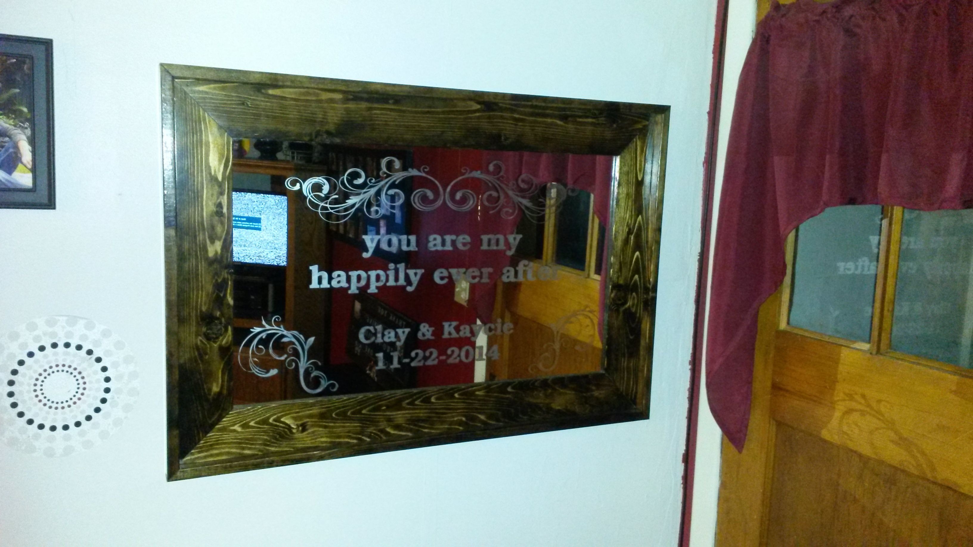 ff6ed2e28db0 Buy a Hand Made Personalized Glass Etched Mirror And Custom Frame ...