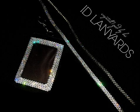 Custom Made Id Lanyard Crystallized Office Medical Accessories Bling Swarovski Crystals Bedazzled
