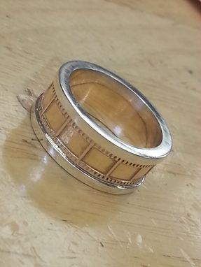 Custom Made Film Strip Gold And Silver Ring