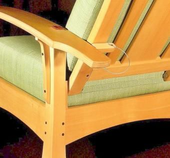 Custom Made Bow Arm Lounge Chair