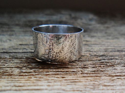 Custom Made Textured Sterling Silver Band Ring Wedding Band