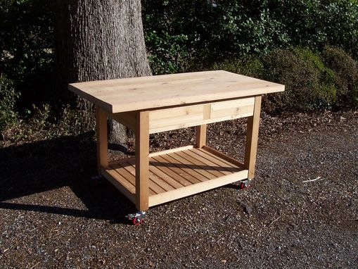 Custom Made Rolling Kitchen Island