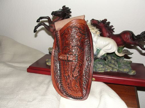 "Custom Made 100% Hand Carved Holster With Skirt And Loop For .44 Cal Colt Frontier 6"" Barrel"