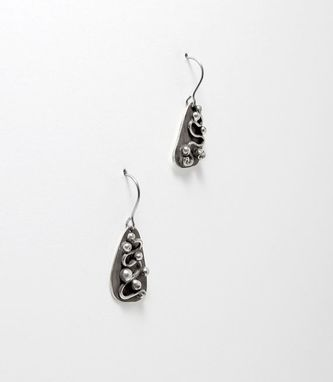 Custom Made Oxidized Sterling Silver Earrings - Recycled Sterling Silver Dangle Drop Earrings