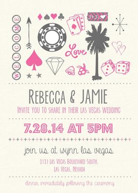 Custom Made Vegas Wedding Invite