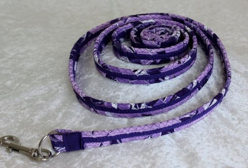 Custom Made Dog Leash. Fabric Wrapped Clothesline. Medium To Large Sized Dog