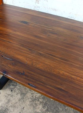 Custom Made Pecan Conference Table And Desk