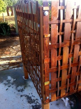 Custom Made Woven Steel Outdoor Shower Enclosure