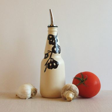 Custom Made Soap Dispenser, Satin Ivory, Oil And Vinegar Glass Bottle, Elm Tree Seeds
