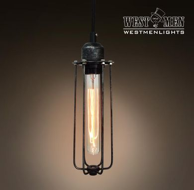 Custom Made Westmenlights Wrought Iron Pendant Hanging Light Art Decoration Lamp