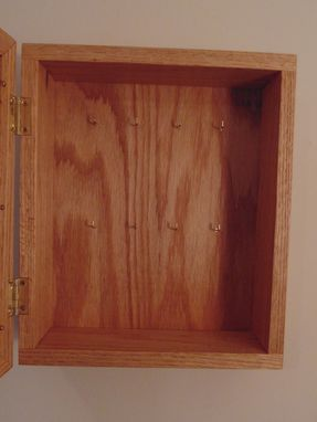 Custom Made Key Cabinet W/ Picture Frame Door