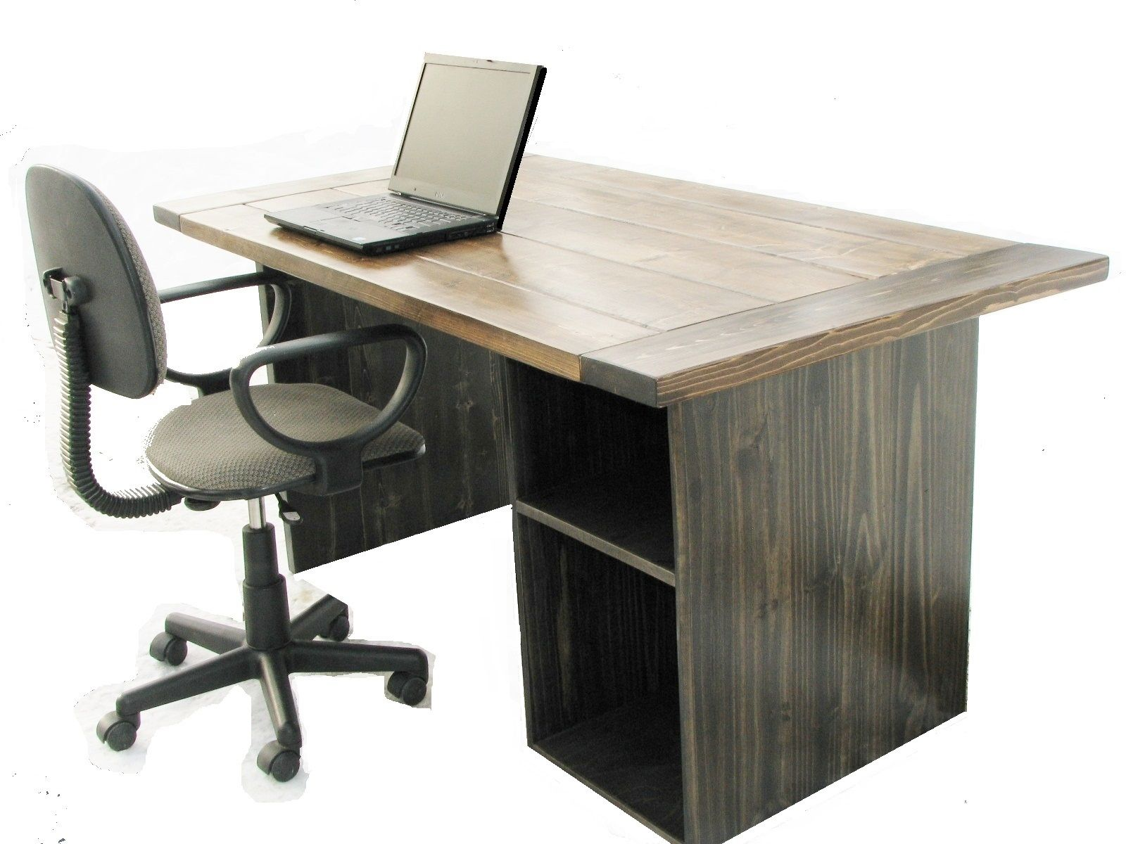 Hand Made Farmhouse Style Office Desk By Custom Made