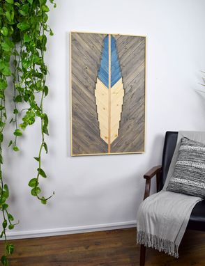 Custom Made Blue Bird Wood Artwork