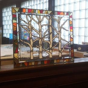 Stained Gl Hanging Windows Autumn Trees P 44 By Donna