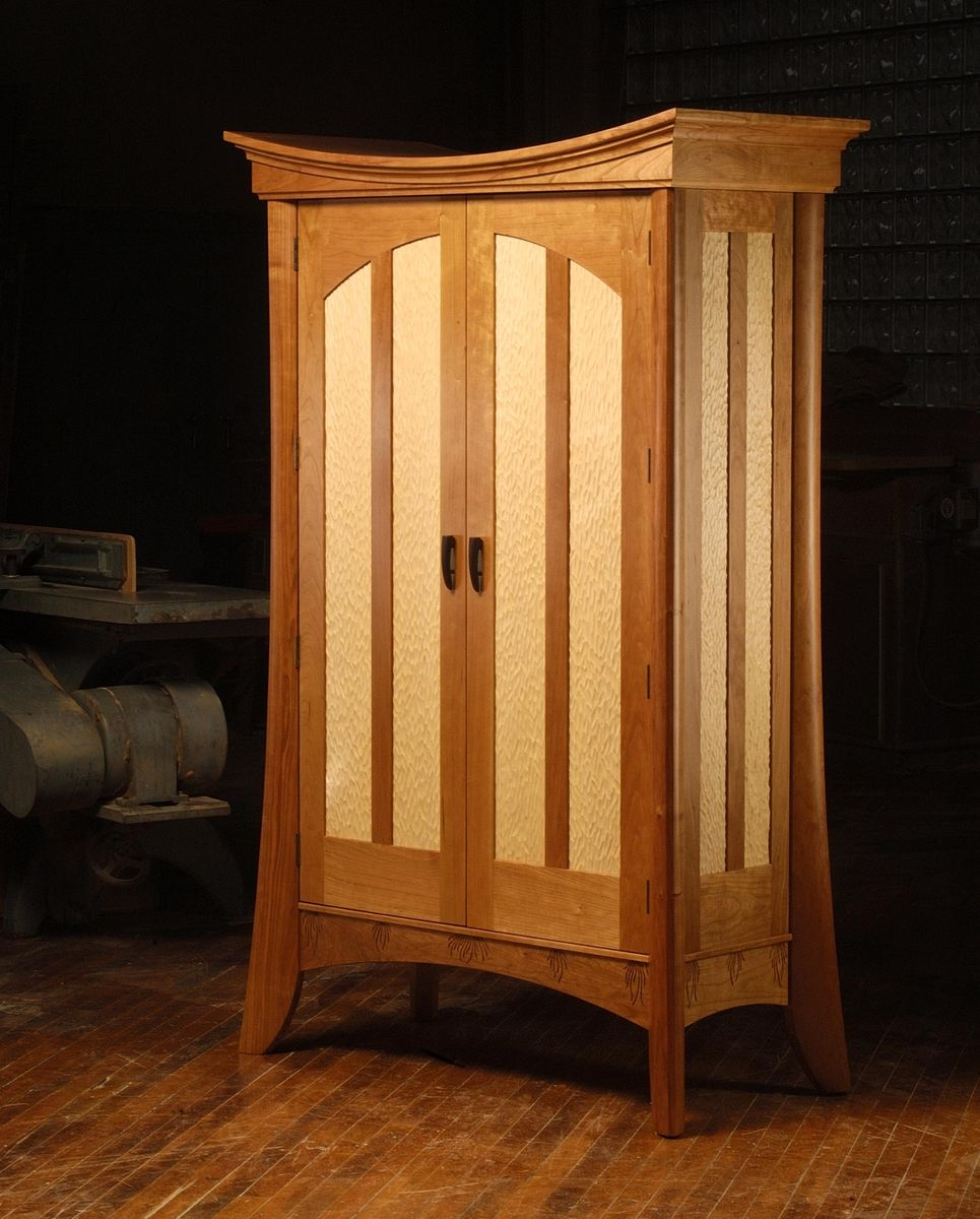 Custom Made Cherry And Maple Prayer Shawl Cabinet By Neal