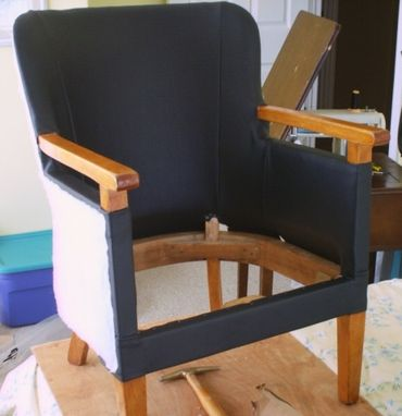 Custom Made Antique Chair - Hmcs Sackville Decommissioned) Captains Quarters