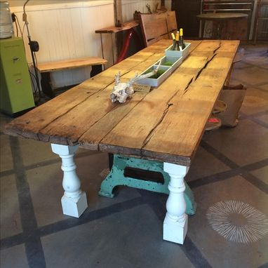 Custom Made Threshing Floor Farm Table
