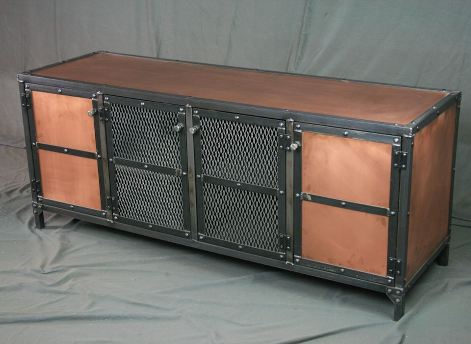 Fresh Buy a Hand Made Industrial Copper Sideboard, Buffet, Media Console  LO42