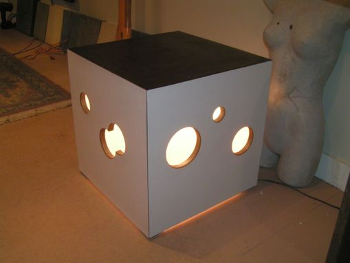 Custom Made Swiss Cheese Light Box Table