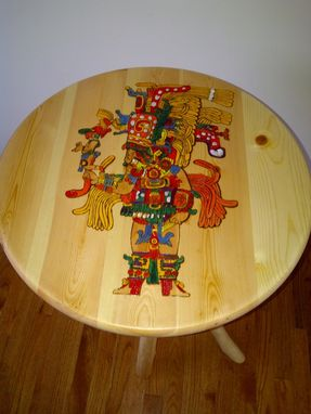 Custom Made Mayan Inspired End Table