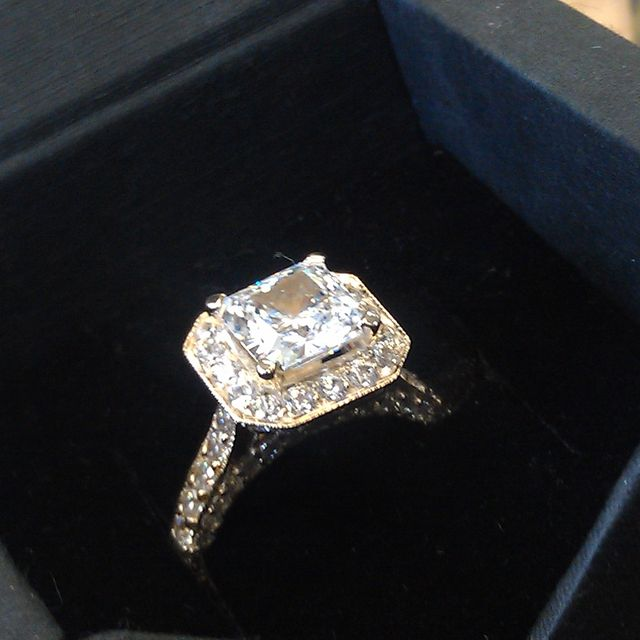 Hand Crafted High Quality Cubic Zirconia Engagement Ring By Paul Michael Design Custommade