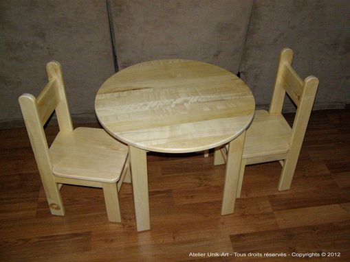 Custom Made Table And Chairs For Children