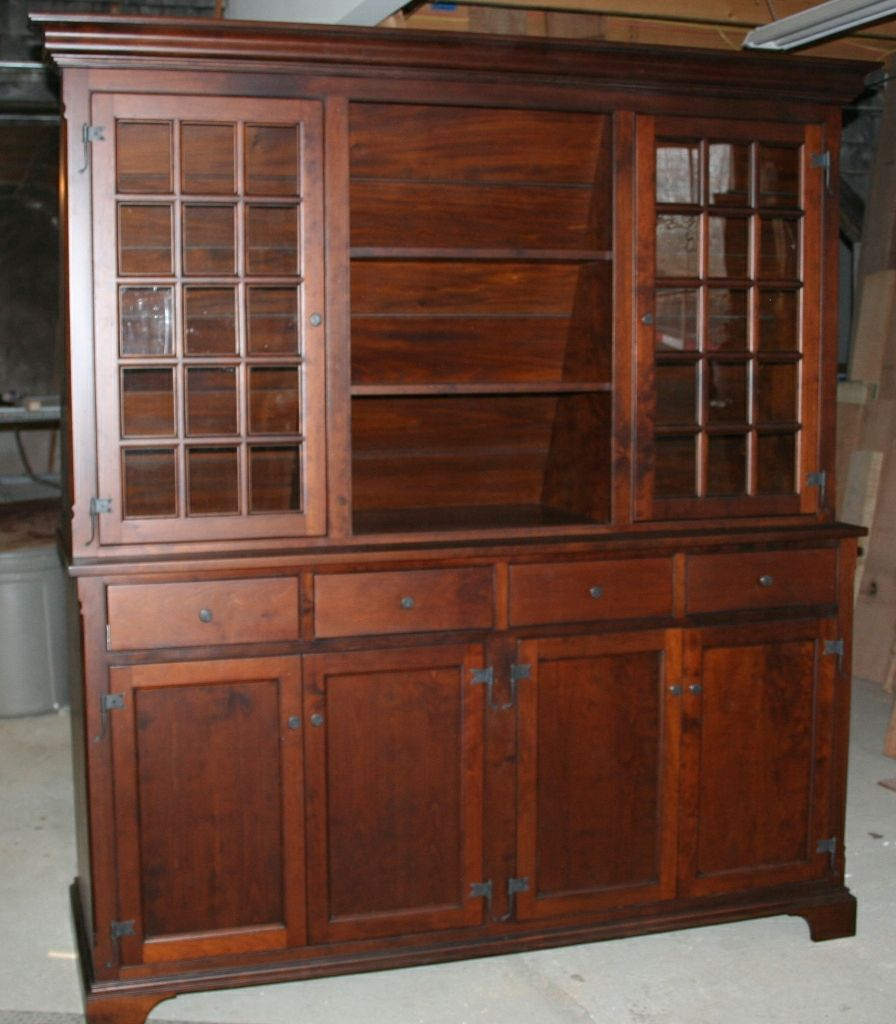 Hand Made Stepback Cupboard In Cherry Early American by Michael ...